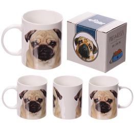 Egg N Chips London New Bone China Mug Fun Pug Design