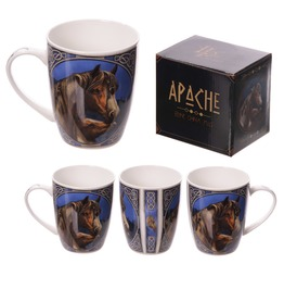 Egg N Chips London New Bone China Mug Apache Horse Design