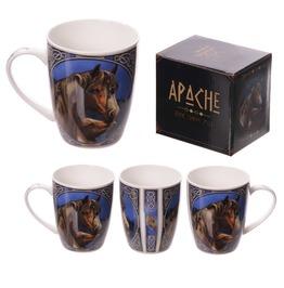 Egg N Chips London New Bone China Mug Apache Horse Design