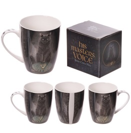 Egg N Chips London New Bone China Mug Magical Cat And Ouija Board