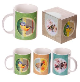 Egg N Chips London New Bone China Fun British Birds Design Mug
