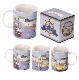 Egg N Chips London New Bone China Summer Harbour Design Mug