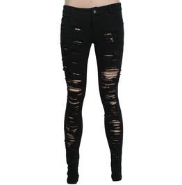Punk Rave Women's Punk Black Ripped Jeans K 134