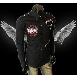 Slipknot Men Casual Black Rock Shirt Slim Fit Shirt Unique Mens Long Sleeve
