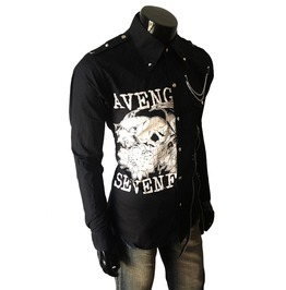 Avenged Men Casual Black Rock Shirt Slim Fit Shirt Unique Mens Long Sleeve