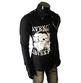 Avenged Men Casual Black Rock Shirt Slim Fit Shirt Unique Mens Long Sleeve