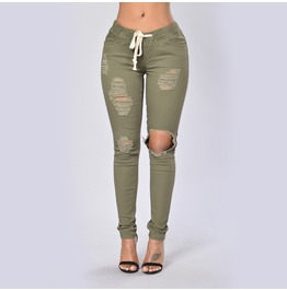Cut Out Draw String Pants