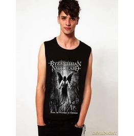 Black Gothic Fashion Death Gold Printing Vest For Men