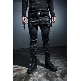/Ripped Jeans/Mens Pants/Men's Cover Hand Painting Black Skinny Pants
