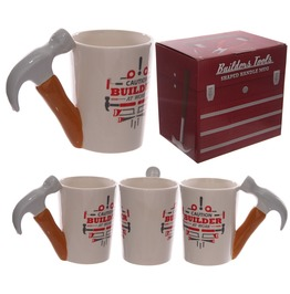 Egg N Chips London Funky Hammer Shaped Handle Ceramic Mug