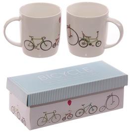 Egg N Chips London Funky Retro Rides Bicycle New Bone China Mug Set For 2