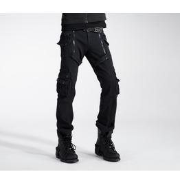 Punk Rave Men's Multi Pocket Zipper Jeans Black K 158