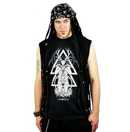 Horned Goddess Triple Crescent Skull Magical Alchemy Co Top Male