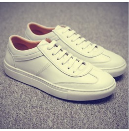 Summer New White Shoes To Help Low Leather Shoes Men's Casual Summer Youth
