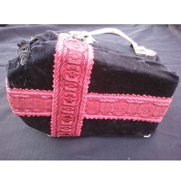 Black & Red Cross Coffin Purse Lined
