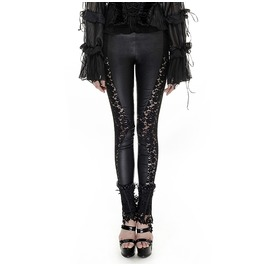 Punk Rave Women's Gothic Floral Sheer Leggings Black K 251