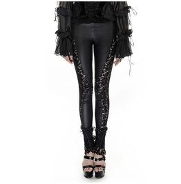 Punk Rave Women's Gothic Floral Sheer Leggings Black K 251