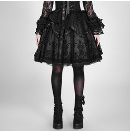 Punk Rave Lolita Embroideried Lace Bubble Mini Skirt Lq 057