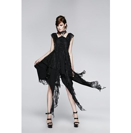 Punk Rave Irregular Decadent Lace Evening Dress Q 248