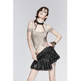 Punk Rave Women's Steampunk Military Bullets Asymmetrical Mini Skirt Q 250