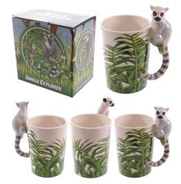 Egg N Chips London Novelty Ceramic Jungle Mug With Lemur Shaped Handle