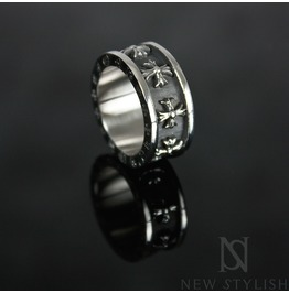 Celtic Cross Inscribed Solid Ring 24