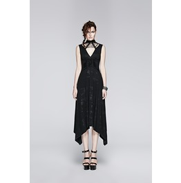 Punk Rave Women's Punk Backless Asymmetrical Evening Dress Q 252