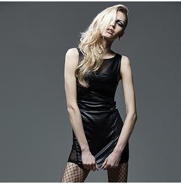 Sleeveless Fitted Dress Black Q 269