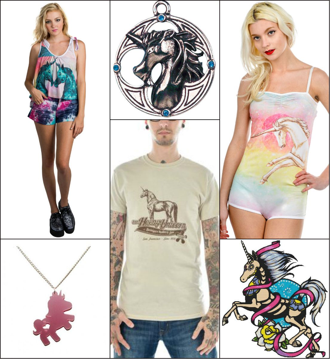 Unicorn Inspired Clothing And Accessories