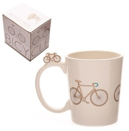 Egg N Chips London Funky Retro Bicycle Design Shaped Handle Ceramic Mug