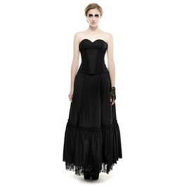 Punk Rave Gothic Blackless Tube Top Evening Dress Q 292