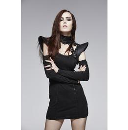 Punk Rave Women's Faux Leather Straps Collar/Choker Black S 143