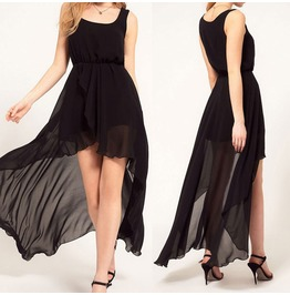 Women Inregular Chiffon Boho Evening Party Long Maxi Beach Dress