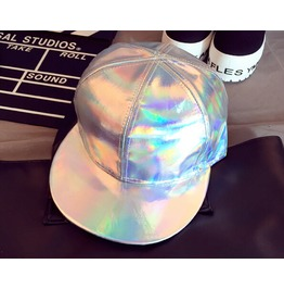 Hip Hop Cap Silver Rainbow Hat A103