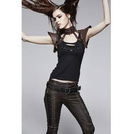Punk Rave Women's Faux Leather Straps Collar/Choker Coffee S 143