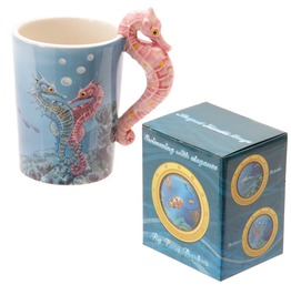 Egg N Chips London Novelty Sealife Design Seahorse Shaped Handle Ceramic
