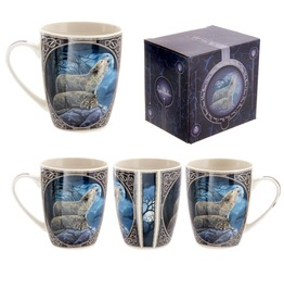 Egg N Chips London Fantasy Howling Wolf Design New Bone China Mug
