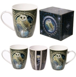 Egg N Chips London Fantasy Barn Owl Design New Bone China Mug