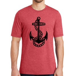 "Men's Vintage Tri Blend ""Sink Or Swim"" Tee"