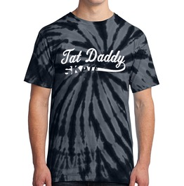 "Men's 100% Cotton Tie Dye ""Tat Daddy Skate"" Tee"