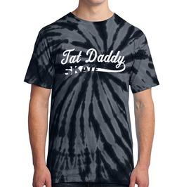 "Men's 100% Cotton Tie Dye ""Tat Daddy Skate"" Tee"