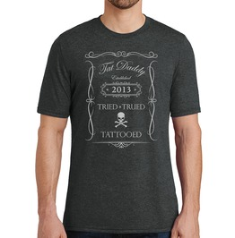 "Men's Vintage Tri Blend ""Tried, Trued, And Tattooed"" Tee"