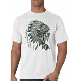 "Men's ""Indian Skull"" 100% Cotton Tee"