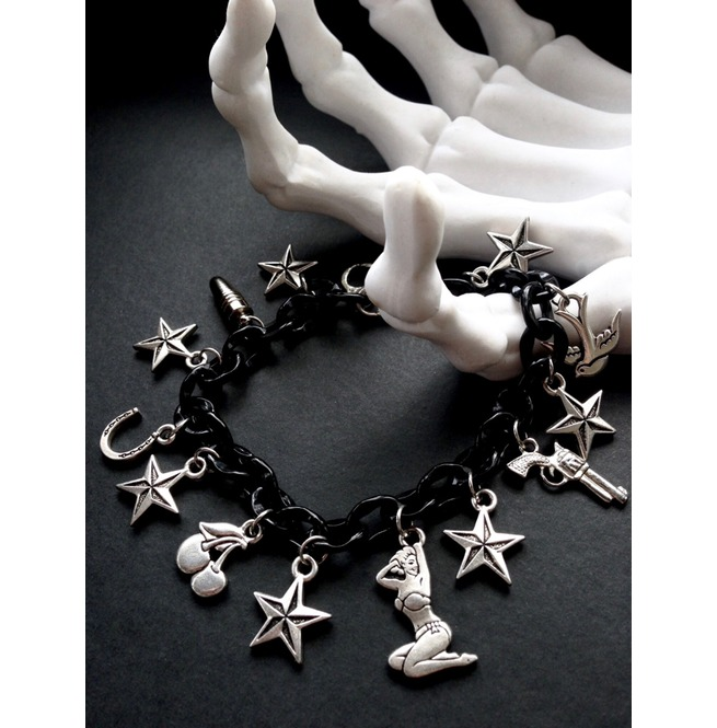 rebelsmarket_one_tough_chick_rockabilly_tattoo_pin_up_charm_bracelet_bracelets_3.jpg