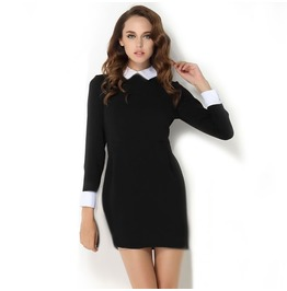 Little Black Dress With White Collar