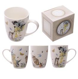 Egg N Chips London Cute Cat Illustration Design New Bone China Mug