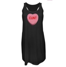 Valentine Candy Cunt Heart Racer Back Dress