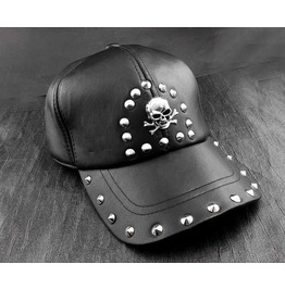 Punk Rock Rivet Skull Studded Caps