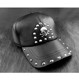 Punk Rock Rivet Skull Studded Caps