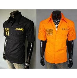 Guantanamo Bay Cuban Prison Orange Worker Shirt Cuba Chaquetero Men New